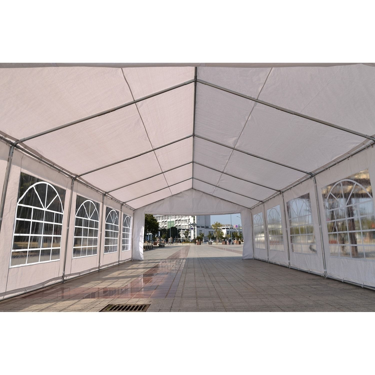 Outsunny 32' x 19' x 9.2' White Heavy Duty Party & Event ...