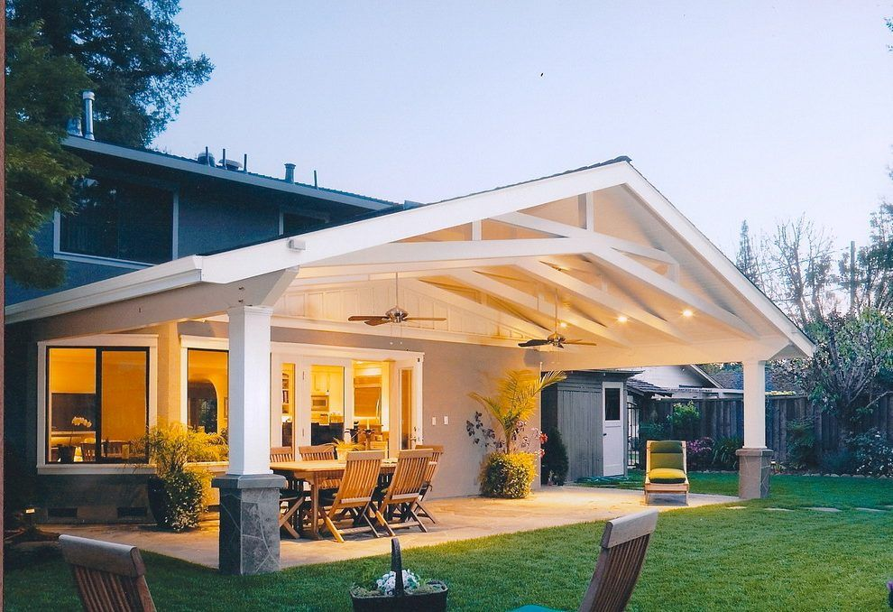 Scissor Truss Deck Roof Google Search Covered Patio Design Backyard Patio Backyard Patio Designs