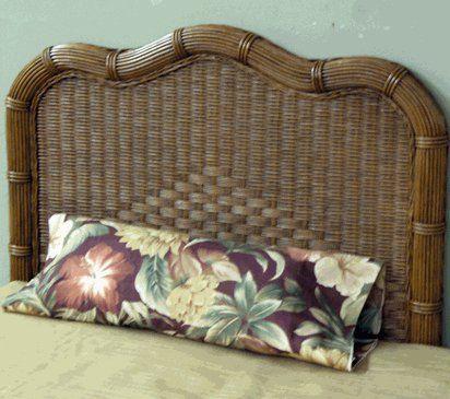 Savannah Wicker Twin Headboard by wicker liked Wicker Furniture