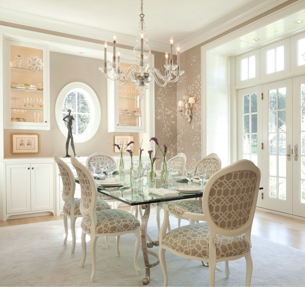 126 Custom Luxury Dining Room Interior Designs: Interior Designer Renée LeJeune Hallberg Builds House Own