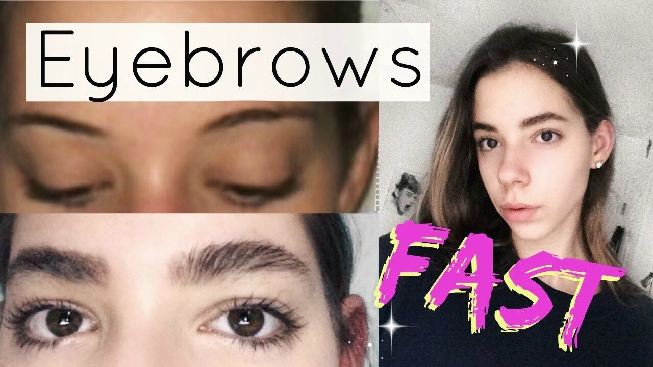 How to grow your eyebrows faster and thicker! | Grow ...