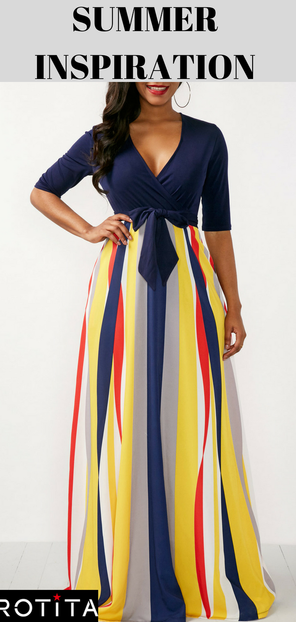 1c871a5cd26 V Neck Half Sleeve Printed Maxi Dress. A suitable Maxi dress can make you  are