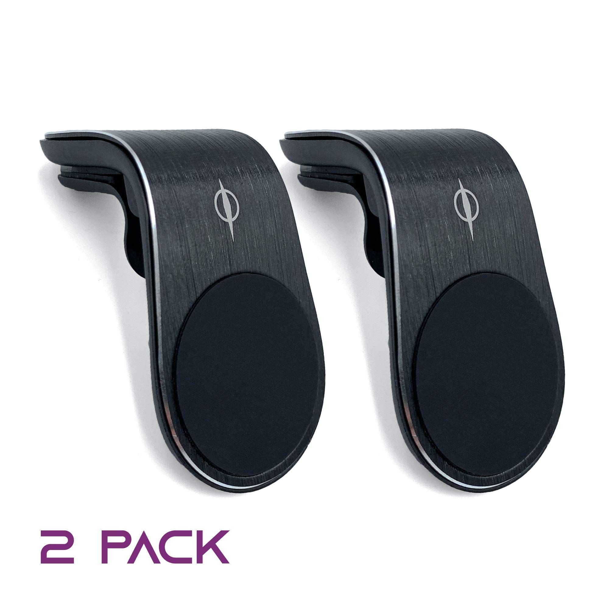 2 Pack Magnetic Phone Car Mount Puls-O Car Cell Phone Mount Magnet Hands Free Universal Smart Phone Holder for Car Air Vent Mount for iPhone 11 Pro XS X 8 7 Plus Samsung Galaxy S10 S9 S8 Note 10 GPS