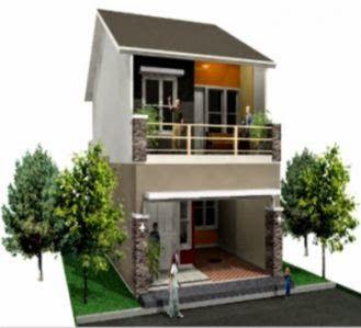 Gambar Desain Rumah Minimalis Type 21 2 Lantai Rumah Minimalis Duplex House Design 2 Storey House Design Small House Design