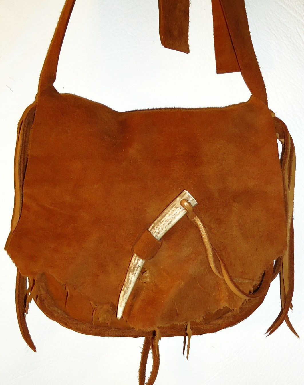 Possibles Bag Purse Cross Body Mountain Man Rendezvous Black Powder Shoot Hunting 2 Compartments Uni