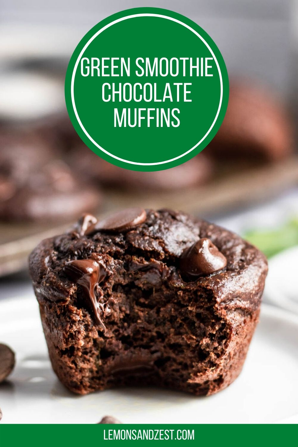 Chocolate Spinach Muffins