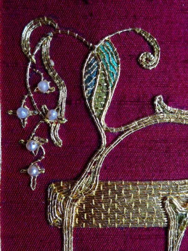 Goldwork Embroidery Designs Embroidered Goldwork Bible In Balliol