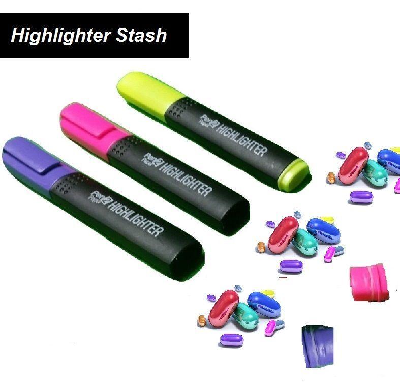 5 Pack Highlighter MarkerStash Can Home Office Security Car US Diversion Safe