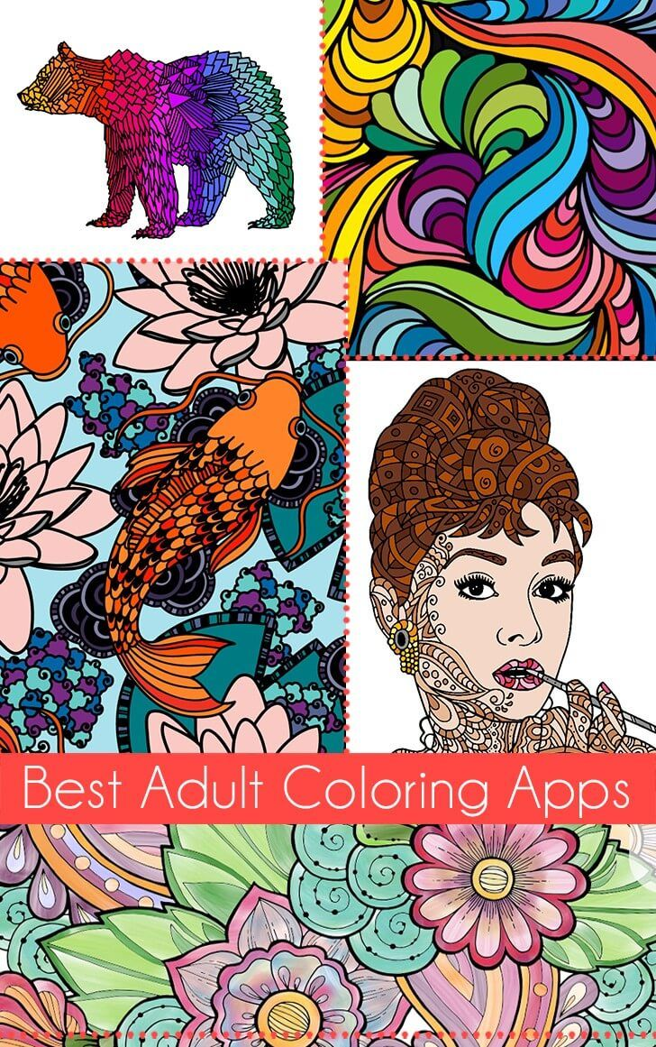 The Best Adult Coloring Apps Coloring Apps Coloring Book App
