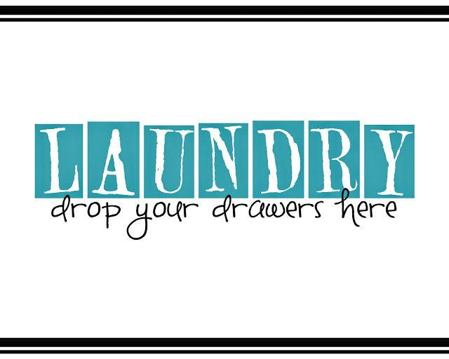 Saying It Sweet: Laundry Room Printable