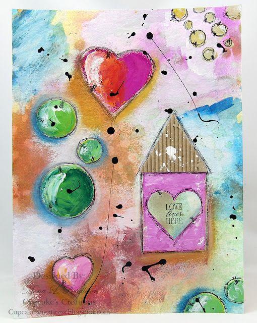 Love lives Here... an Art Journal Pg ~ Cupcake's Creations