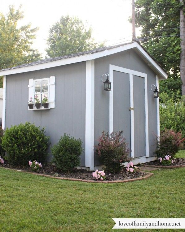 Backyard Shed Decorating Ideas Cute Like The Lanterns And Shutters