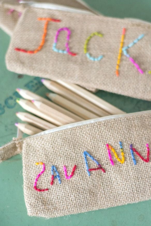 Great Kid Sewing Project Kid Embroidered Pencil Pouch Sewing