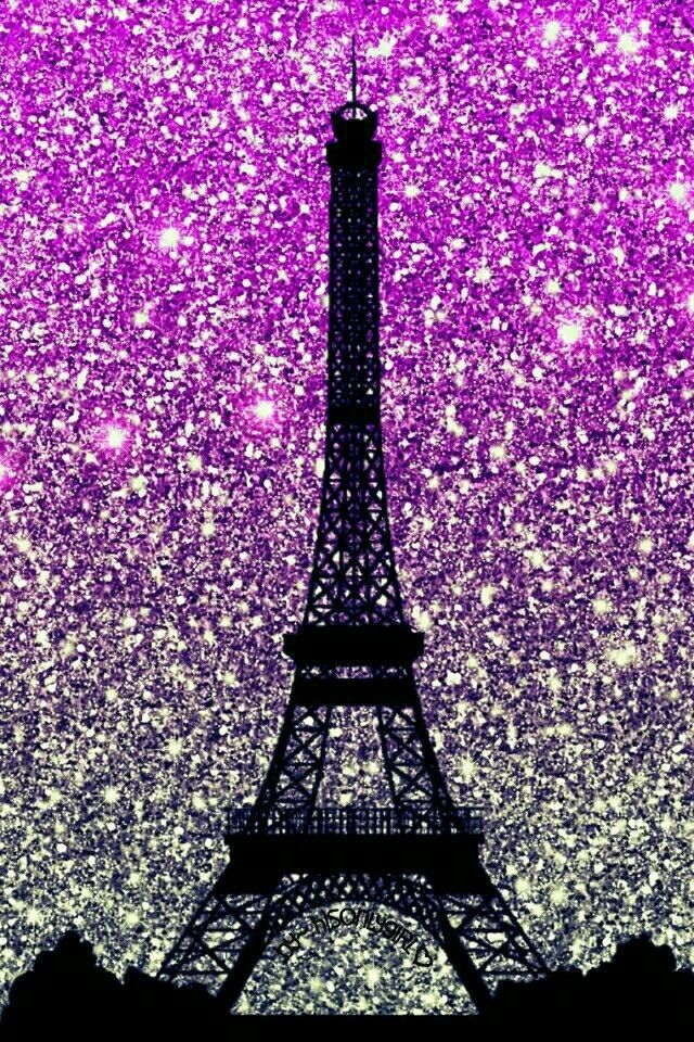 Sparkly Eiffel Tower Wallpaper With Images Paris Wallpaper