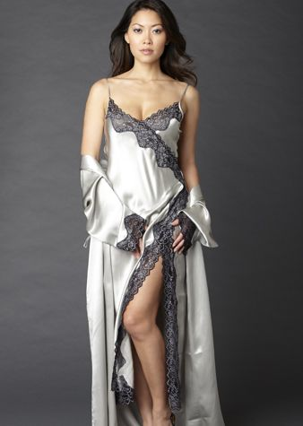 Silk long nightgown and wrap | NightGowns I Like | Pinterest ...