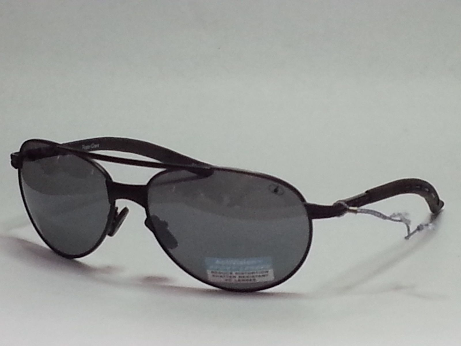 eb0499b1ee  ebay Ironman Sport aviator Black sunglasses Metal Frame Shatter Resistant  100% UV pro withing