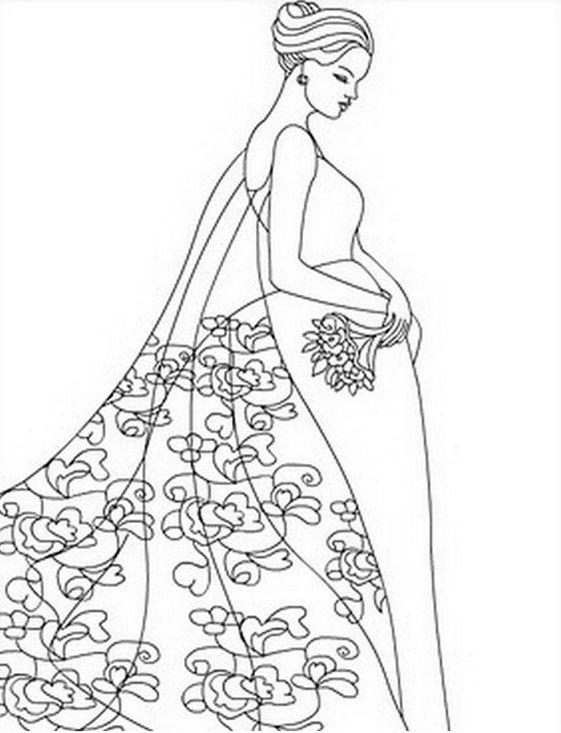 Topmodel 08 | fashion coloring | Pinterest | Ausmalbilder, für ...