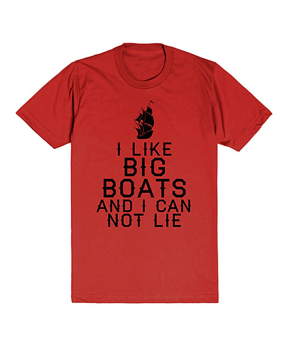 Another great find on #zulily! Skreened Red & Black 'I Like Big Boats' Crewneck Tee by Skreened #zulilyfinds