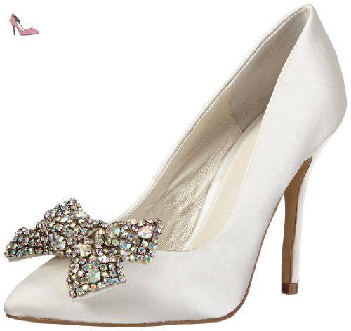 Menbur Wedding Galatea 04759, Escarpins femme - Blanc cassé-TR-AF, 38 EU