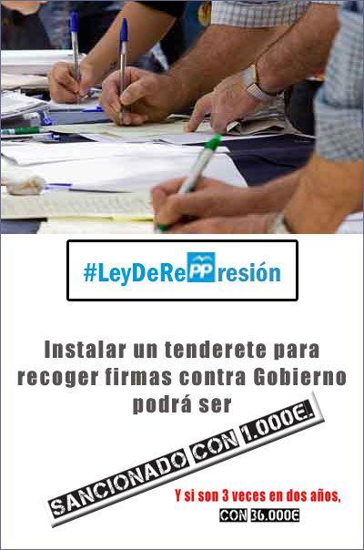 ESPAÑA / 2014 / Gobierno del Partido Popular represión ciudadana y recorte de derechos fundamentales