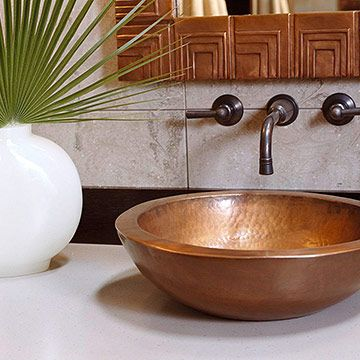 Rustic Bathroom Sink Brasada Ranch Style Homes Beaded Backsplash
