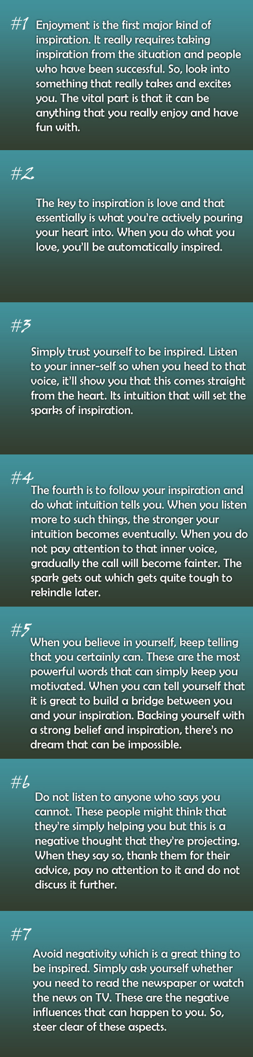 in life which is definitely one such prospect that occurs to almost everyone well what is inspiration what is that factor which inspires you so much - What Inspires You What Influenced You The Most