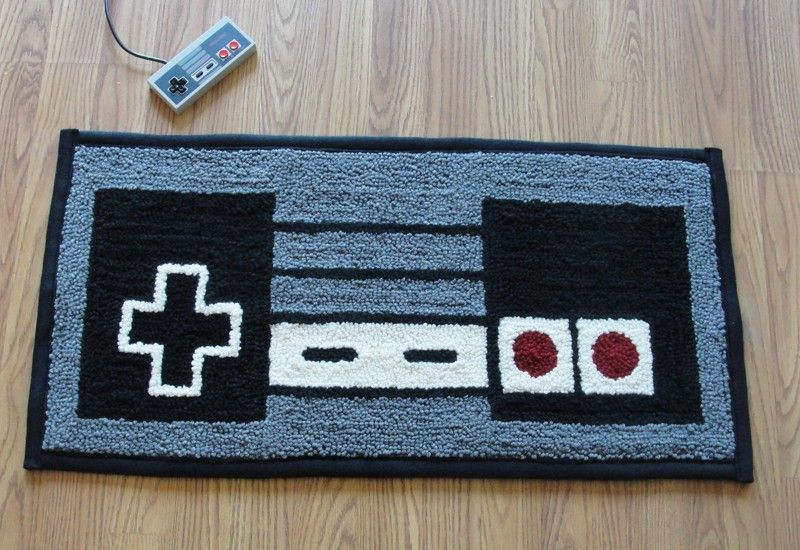 Nes Nintendo Controller Rug With Images Geek Decor Video Game