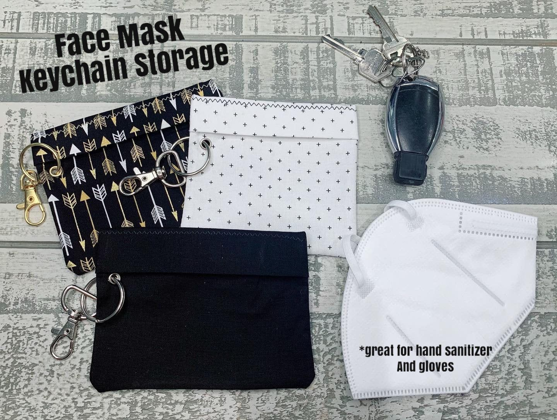 Car Accessory Reusable Mask Pouch Car Mask Bag Face Mask Storage Pouch Car Face Mask Holder Gift