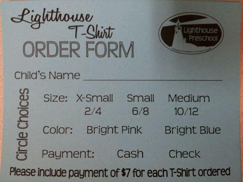 Student T-shirt order forms October 2014 Pinterest Order - t shirt order form