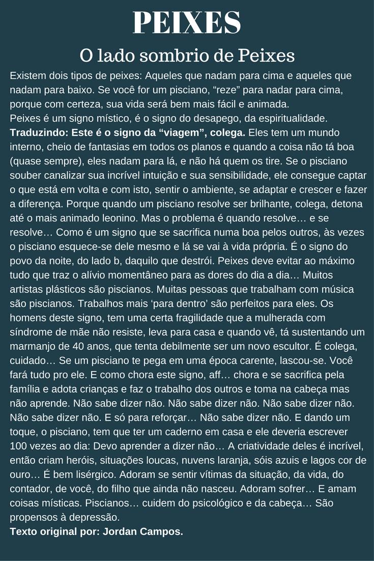 Virgem + Peixes = MORNO