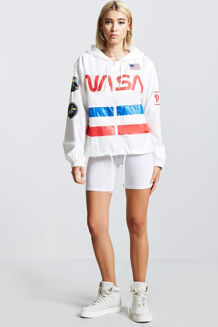 bdbfea7c9 NASA Graphic Windbreaker | wäñts✨ in 2019 | Nasa jacket, Nasa ...
