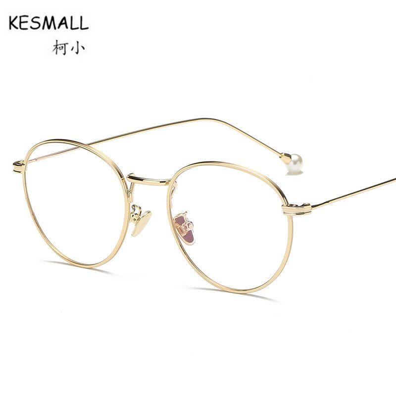 ec7664ed065 KESMALL Prescription Optical Glasses Women Men Spectacle Frame With Myopia  Lens Fashion Reading Eyewear Oculos Masculinos XN530P-in Prescription  Glasses ...