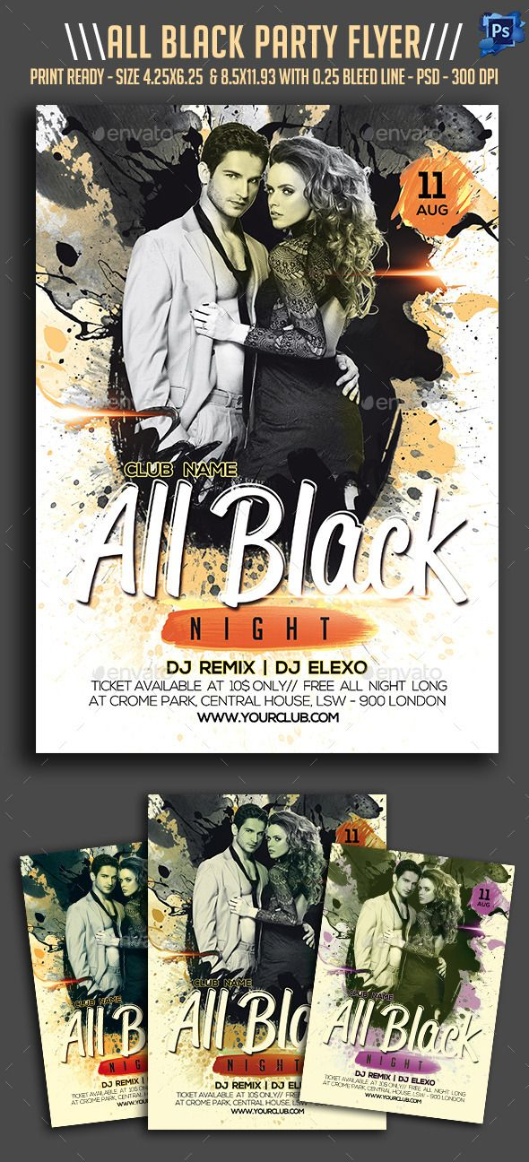all black night party flyer party flyer and night parties