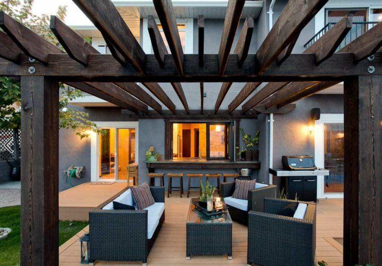 Terrasse en bois - 75 idées pour une déco moderne Pergolas