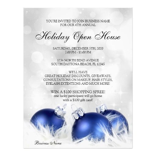 Business And Store Christmas \ Holiday Open House Flyer Open - open house flyer