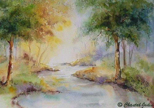 Chantal Jodin Watercolor Arte De Acuarela Pintura Acuarela