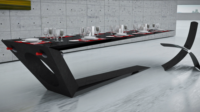 This Blade Thin Carbon Fiber Table Looks Like It Might Fall Over