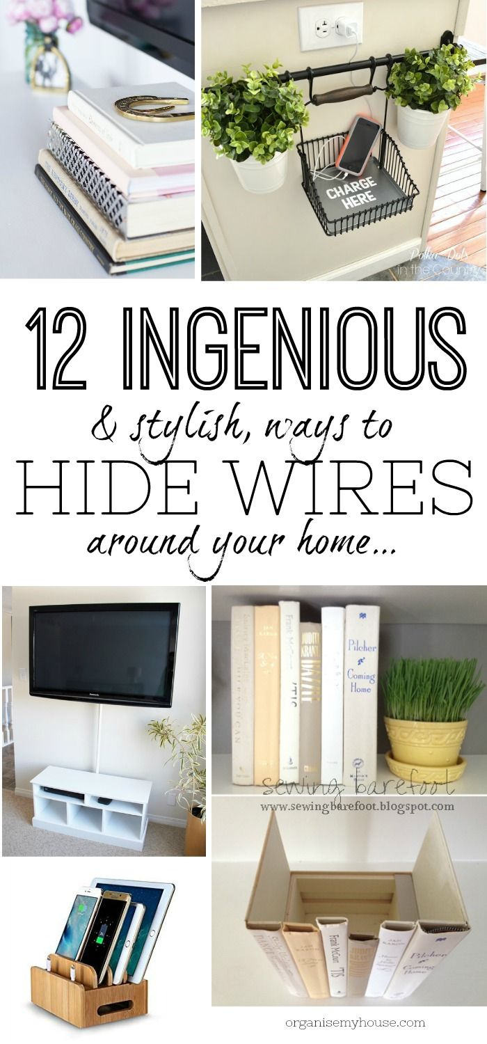 12 ingenious (& stylish!) ways to hide wires & tech in your home ...