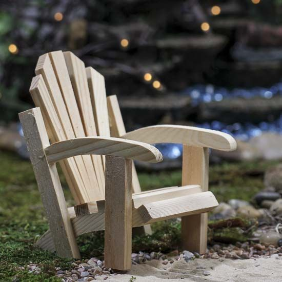 Mini Unfinished Wood Adirondack Chair