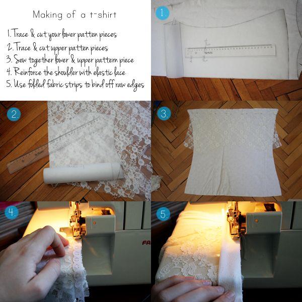 DIY Romantic Lace T-Shirt #romanticlace