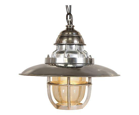 Lampada a sospensione in ottone steamer argento 31x34 cm home