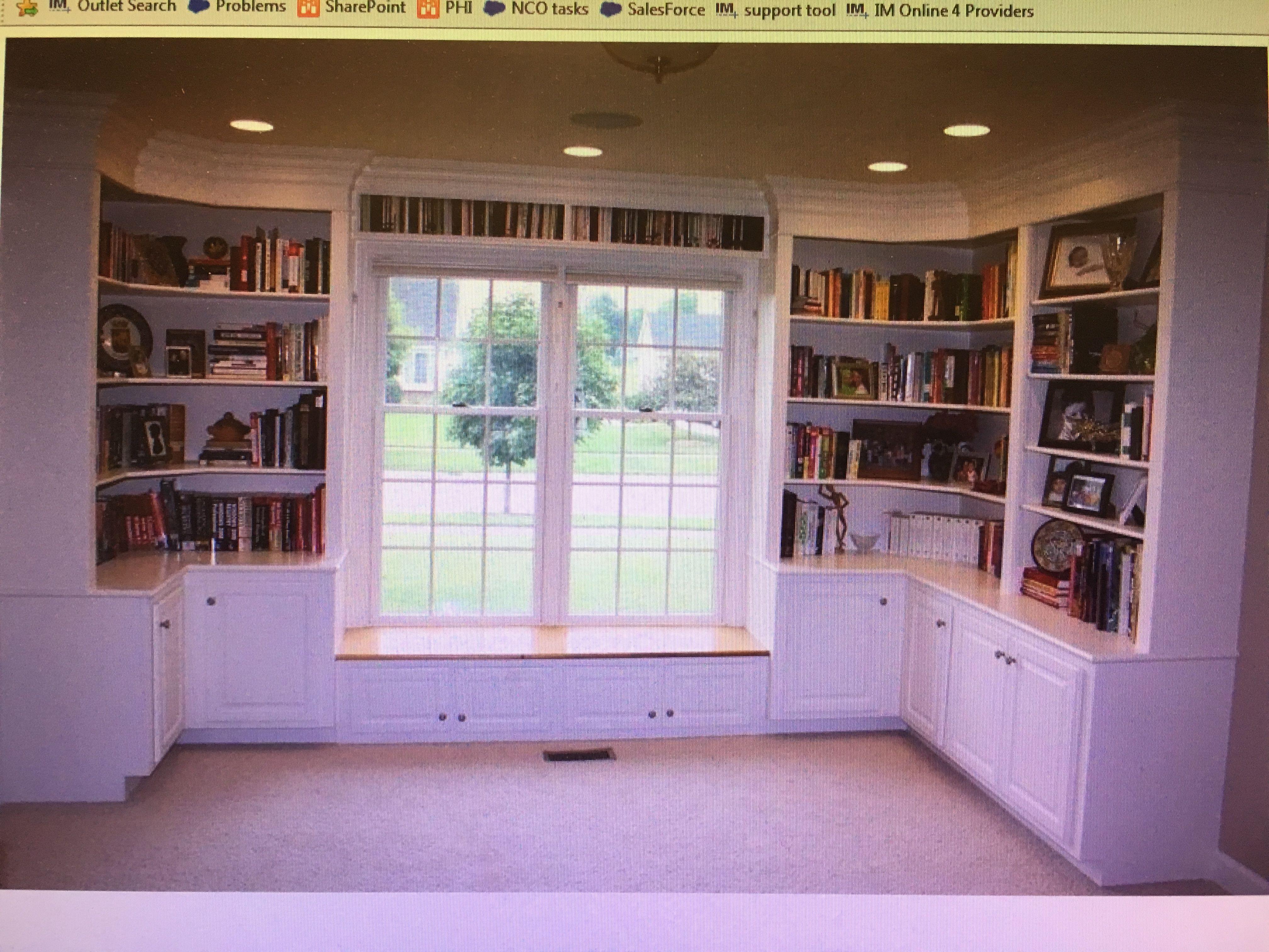 Built in bookcase home bookshelves built in window seat