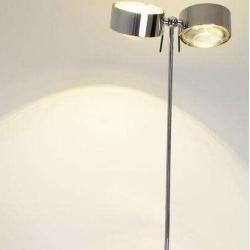 Photo of Top Light Puk Maxx Floor Maxi Twin Led floor lamp black-chrome 2x lens clear / 2x glass matt Led To
