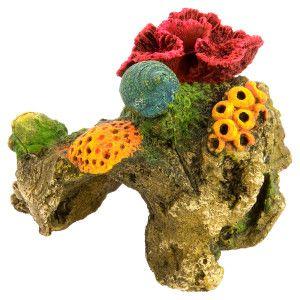 Top fin red brain coral aquarium ornament petsmart for Petsmart fish tank decorations
