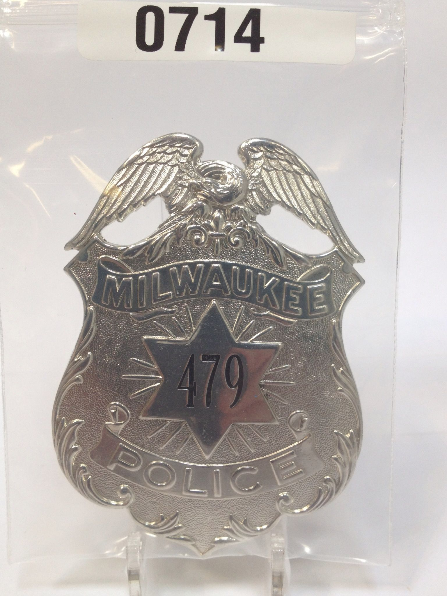 Milwaukee Police Badge Swap Out The Numbers And Voila
