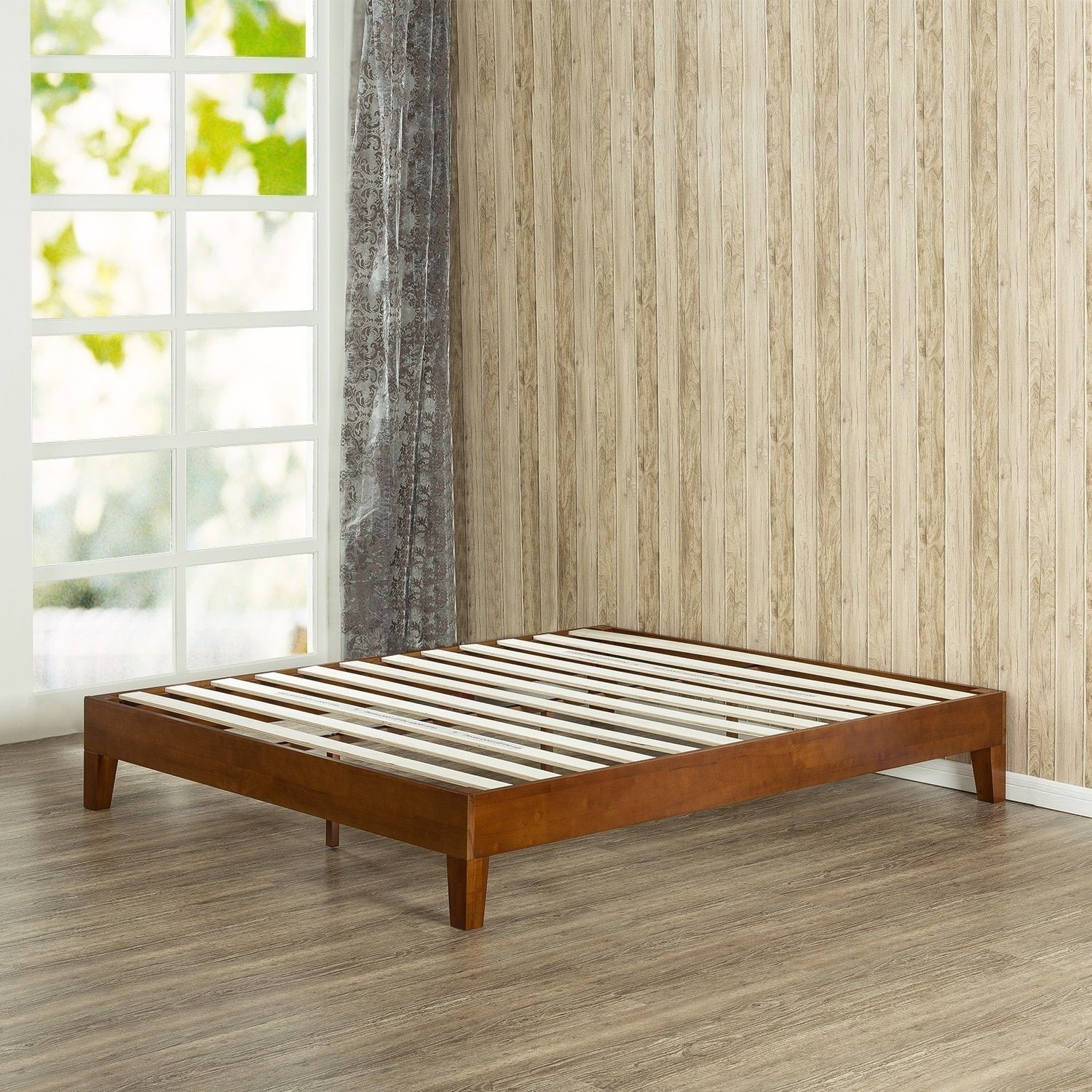 Priage 12-Inch Deluxe Solid Wood Queen-Size Platform Bed   Products ...