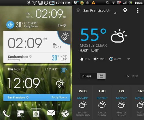 Beautiful Weather Widgets For Your Android Home Screens