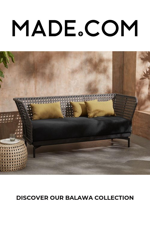 Balawa Garden 3 Seater Sofa, Grey