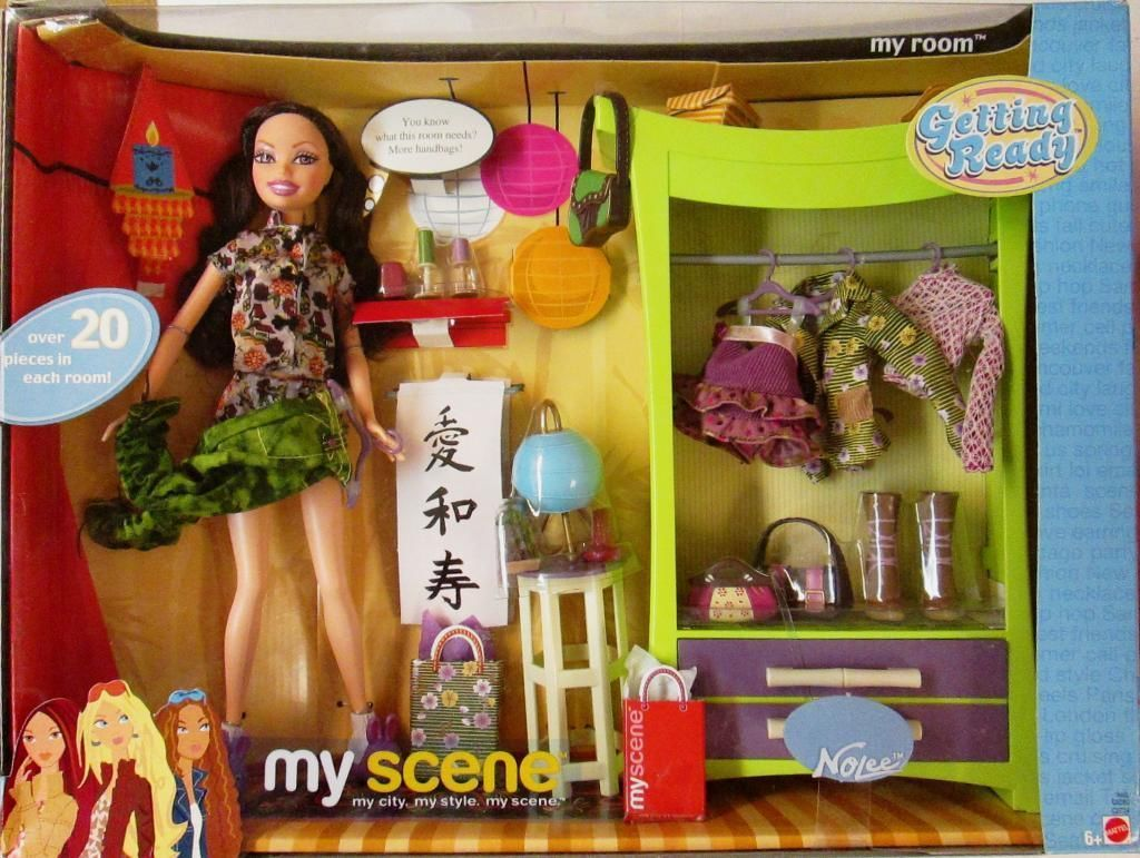 My Scene, My Room Nolee Getting Ready Playset by Mattel, 2003