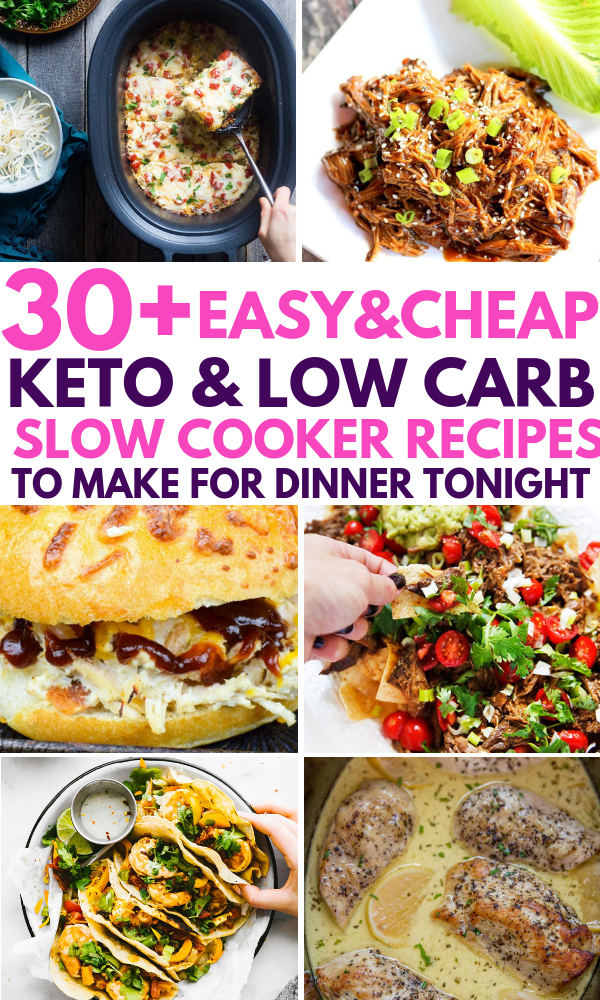 30 Low Carb Keto Slow Cooker Recipes To Take Care Of Dinner For A Whole Month These R Low Carb Slow Cooker Recipes Low Carb Slow Cooker Keto Recipes Dinner